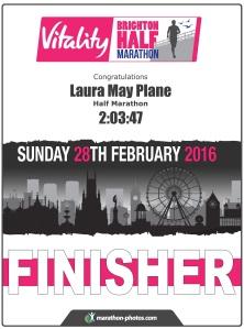 Brighton Vitality half marathon