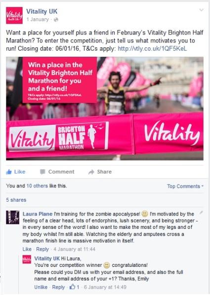Vitality Brighton half marathon