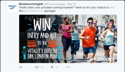 Twitter Brooks competition